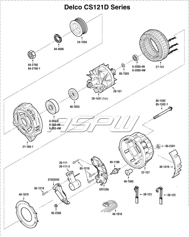 gm alternator parts diagram gm transmission parts diagram #8