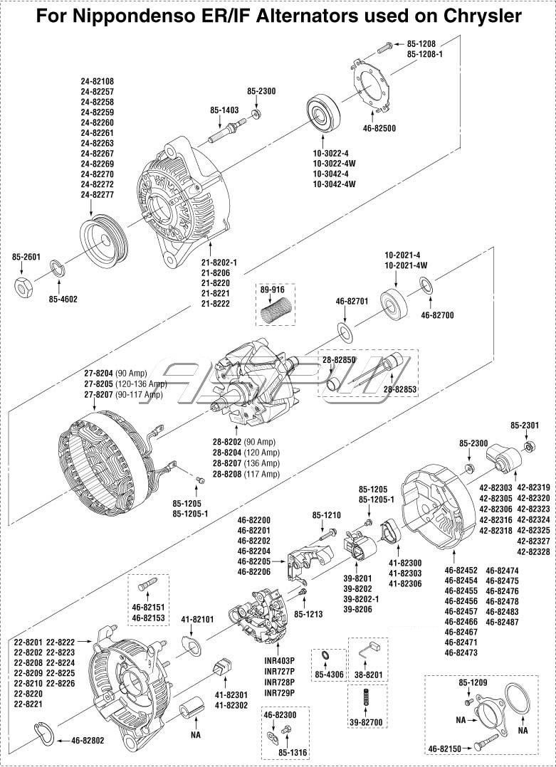 exploded views alternator parts starter parts repair kits. Black Bedroom Furniture Sets. Home Design Ideas