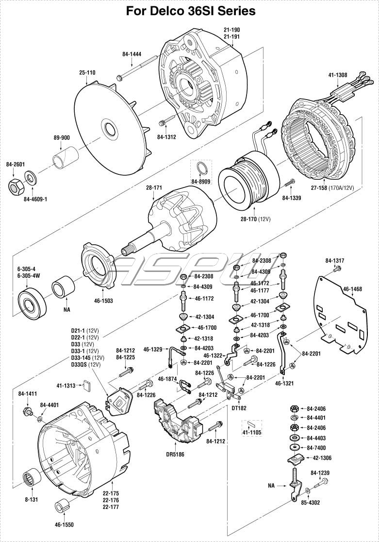 delco 10dn alternator wiring