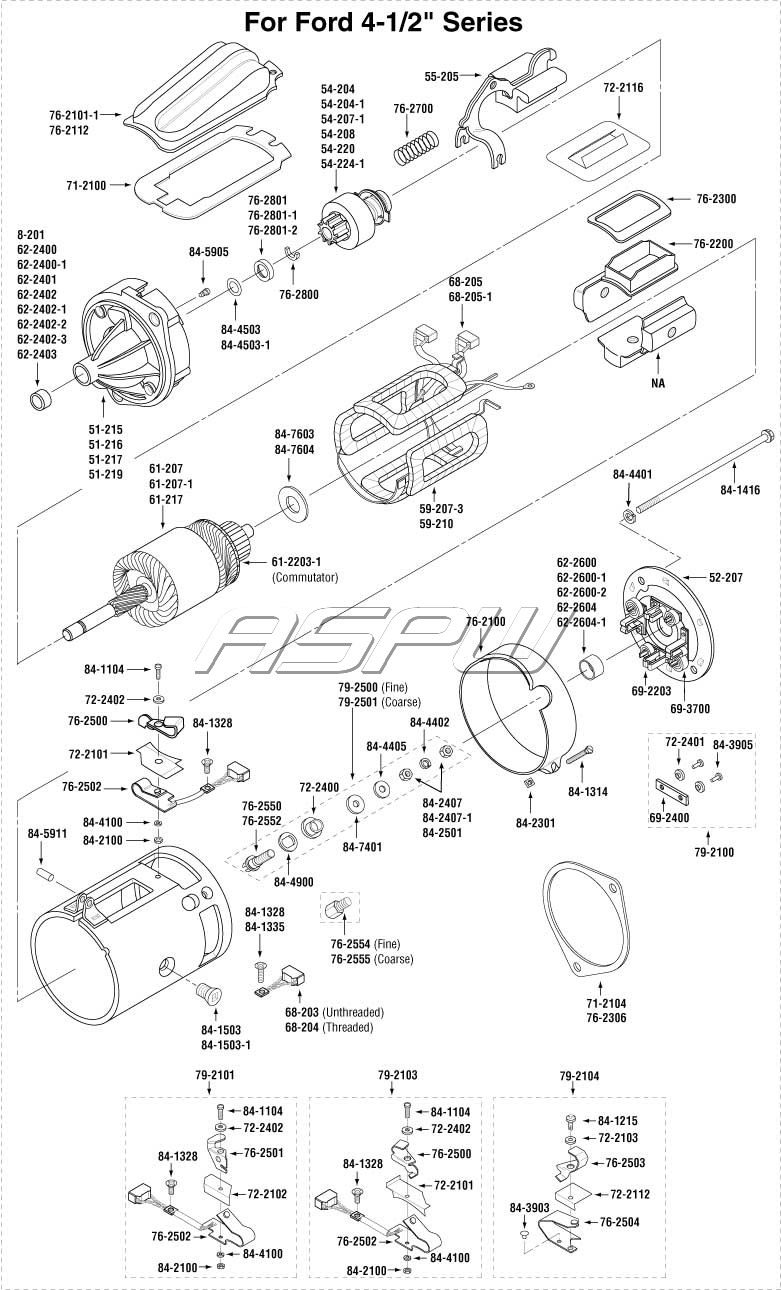 Unit Exploded Views additionally Transpo On F7078 Wiring Diagram likewise Alternator Quick Disconnect in addition Delco as well Unit Exploded Views. on 10dn alternator
