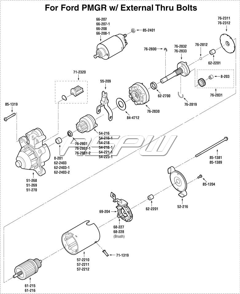 FD PMGR_EXT_BOLTS ford alternator parts starter parts repair kits & upgrade kits ford starter parts diagram at readyjetset.co